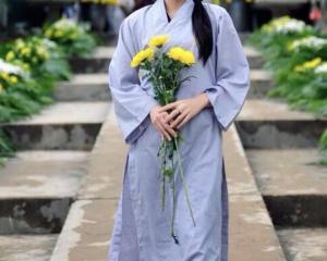 Áo tràng lễ chùa, áo tràng phật tử, đồ lam