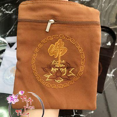 Túi vải đeo chéo đi chùa