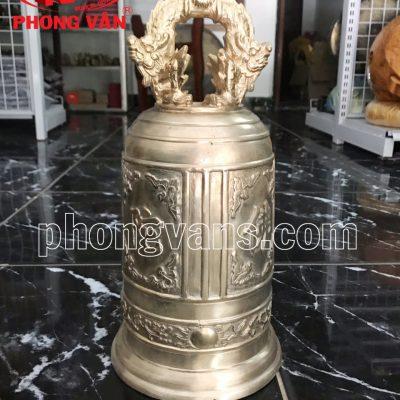 Chuông chùa đồng đỏ Huế cao 37 cm