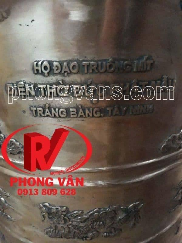 Chuông đồng đỏ Huế cao 1m2 120cm