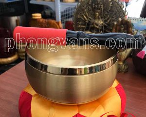 Chuông đồng Đài Loan vàng trơn 7in