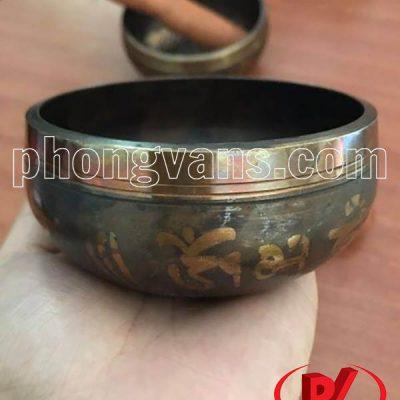 Chuông đồng xoay Tây Tạng 9.5cm