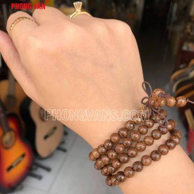 Chuỗi hạt đeo tay gỗ muồng