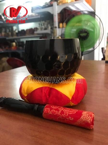 Chuông Đài Loan đen vân lục giác 3.5 in