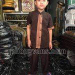 Quần áo đi chùa cho bé trai
