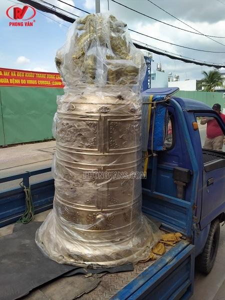 Đúc chuông đồng Huế 400 kg đẹp