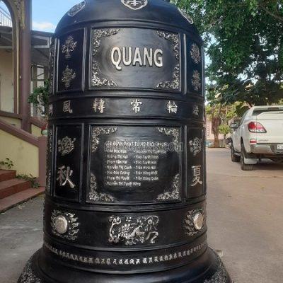 Bàn giao Chuông đồng đại hồng chung 1 tấn chùa Giác Quang Bình Phước