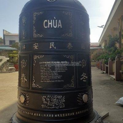Bàn giao Chuông đồng đại hồng chung 1 tấn chùa Giác Quang Bình Phướcdata-cloudzoom =