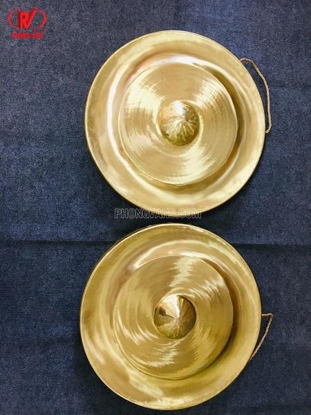 Cồng chiêng đồng rộng 50 cm mài sáng bóng